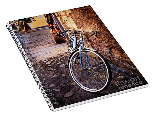 Blue Rome Bicycle Spiral Notebook