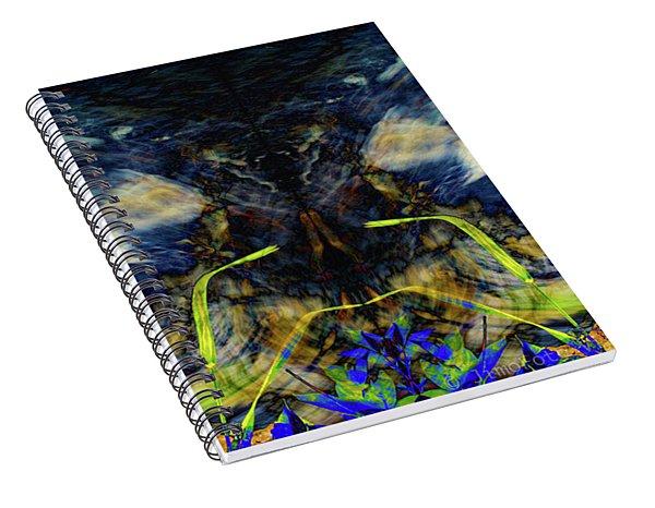 Blue Tigers Devil Spiral Notebook