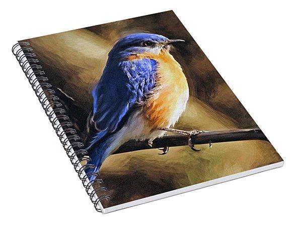 Bluebird Portrait Spiral Notebook