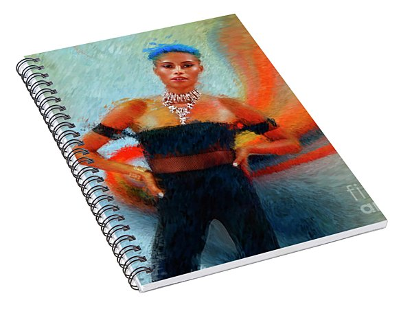 Blued Haired Model Spiral Notebook