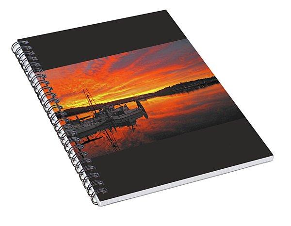 Boardwalk Brilliance With Fish Ring Spiral Notebook