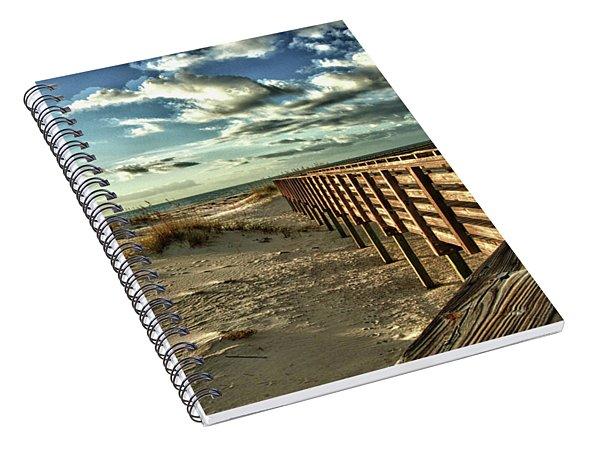 Boardwalk On The Beach Spiral Notebook