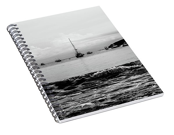 Boats And Waves 2 Spiral Notebook