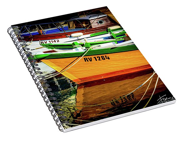 Boats In Rovinj Spiral Notebook