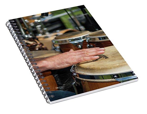 Bongo Hand Drums Spiral Notebook