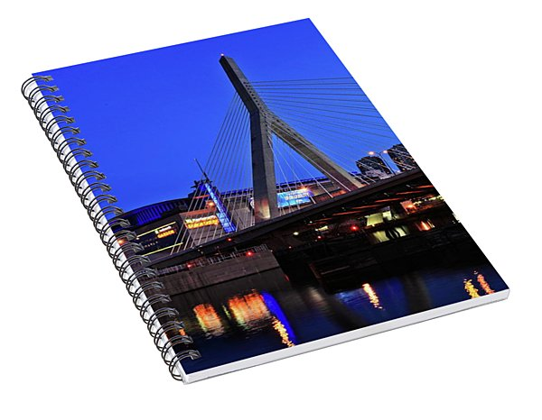 Boston Garden And Zakim Bridge Spiral Notebook