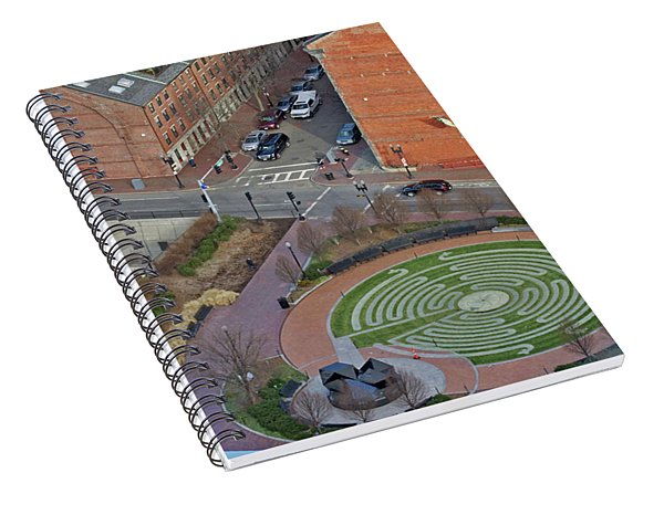 Boston Labyrinth Spiral Notebook