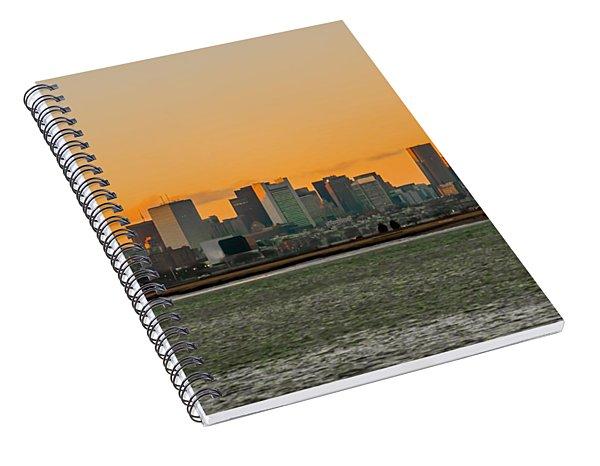 Boston Sunset Spiral Notebook