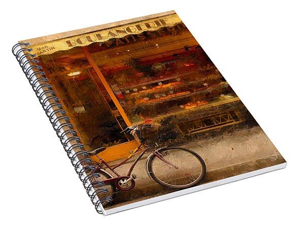 Boulangerie And Bike 2 Spiral Notebook