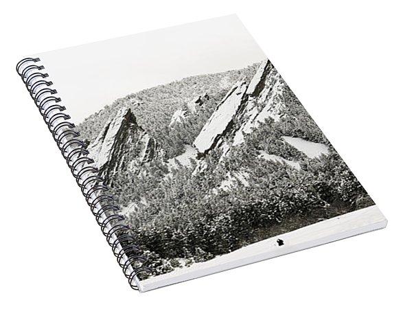 Boulder Flatirons Colorado 1 Spiral Notebook