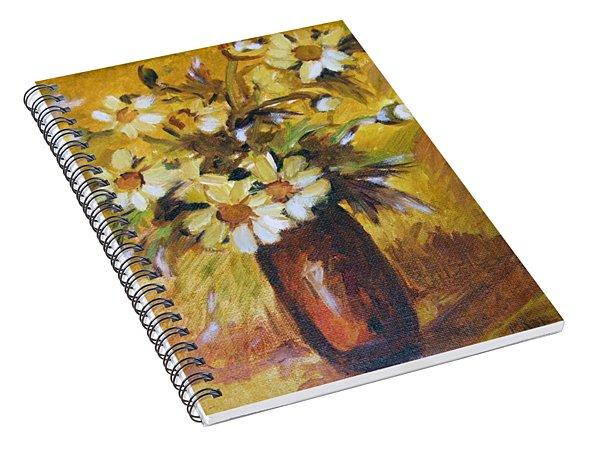 Bouquet Flowers Of Gold Spiral Notebook