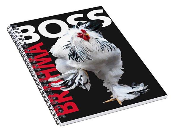 Brahma Boss II T-shirt Print Spiral Notebook