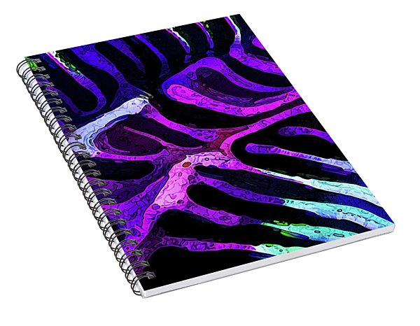 Brain Coral Abstract 2 In Purple Spiral Notebook