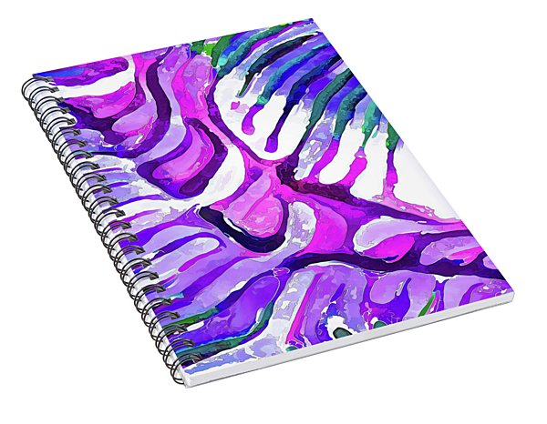 Brain Coral Abstract 4 In Purple Spiral Notebook