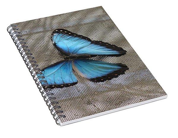 Bright Blue Butterfly Spiral Notebook