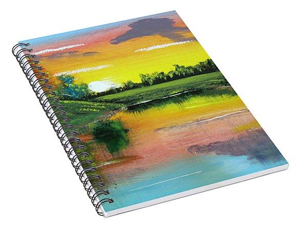 Bright Sunset Spiral Notebook