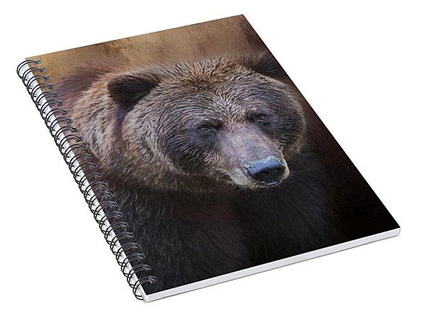 Brown Bear Portrait Spiral Notebook