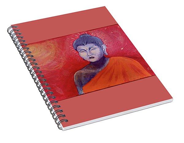 Buddha In Red Spiral Notebook