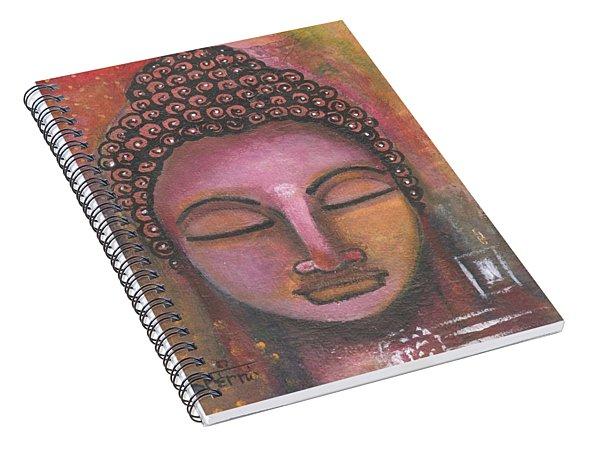 Buddha In Shades Of Purple Spiral Notebook
