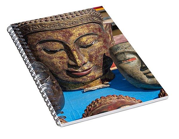 Buddha Masks Hadicrafts Spiral Notebook