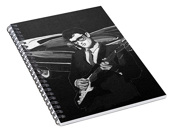 Buddy Holly And 1959 Cadillac Spiral Notebook