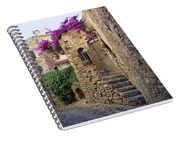 Bussana Vecchia Street Spiral Notebook