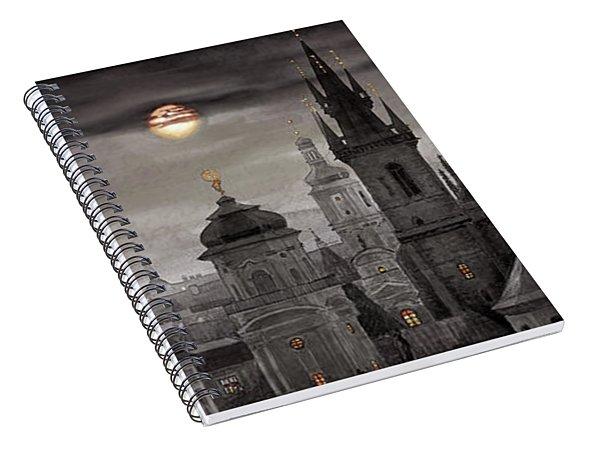 Bw Prague City Of Hundres Spiers Spiral Notebook