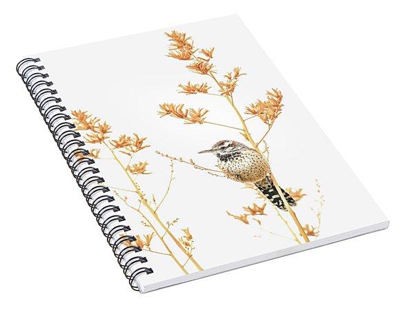 Cactus Wren # 3 Spiral Notebook