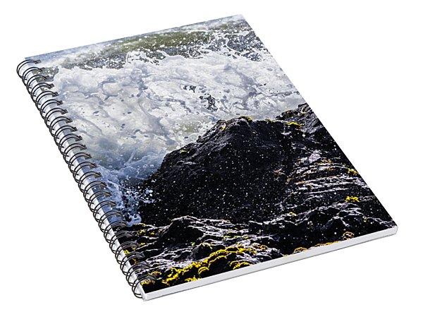 California Coast Wave Crash 4 Spiral Notebook