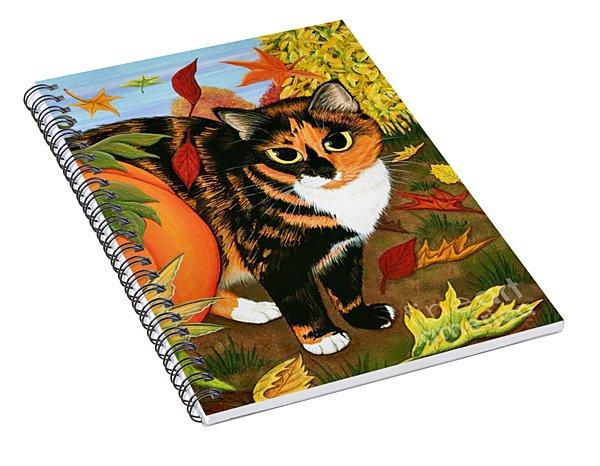 Calico's Mystical Pumpkin Spiral Notebook