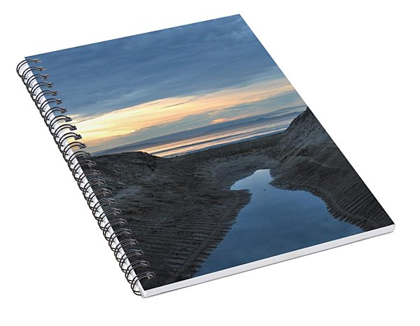California Beach Stream At Sunset - Alt View Spiral Notebook