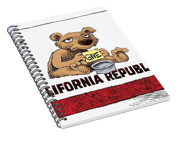 California Budget Begging Spiral Notebook