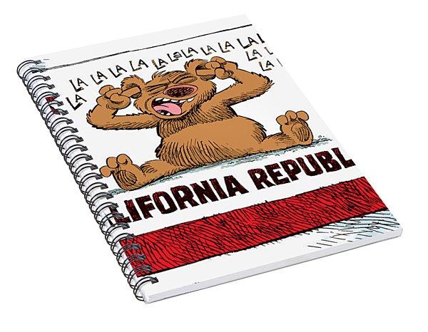 California Budget La La La Spiral Notebook