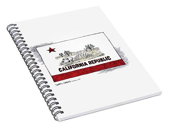 California Drought Spiral Notebook