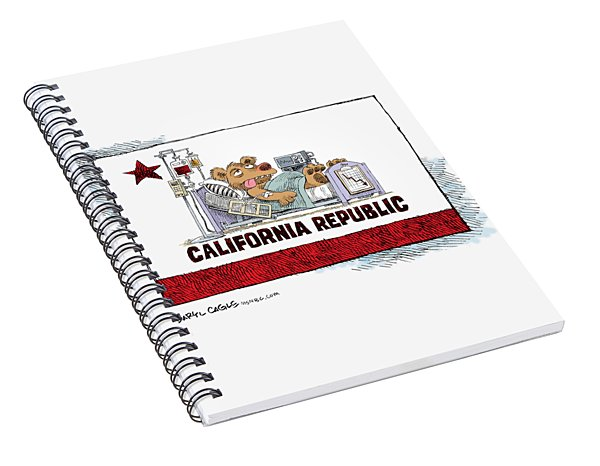 California Is Sick Spiral Notebook