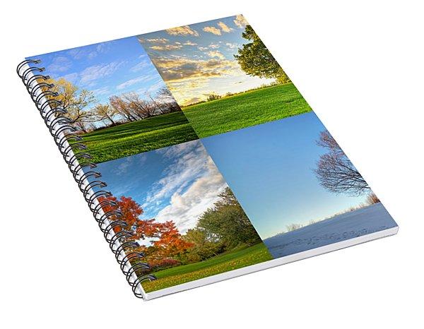 Canadian Seasons Spiral Notebook