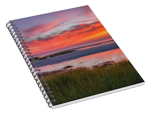 Cape Cod Skaket Beach Sunset Spiral Notebook