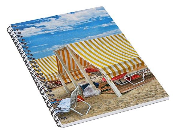 Cape May Cabanas 2 Spiral Notebook