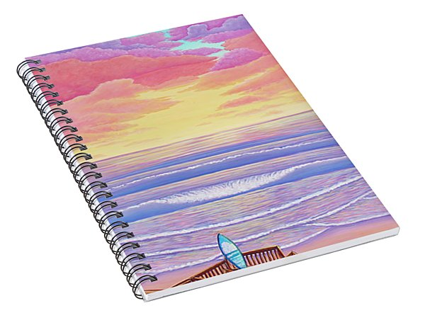 Cardiff Sunset Spiral Notebook