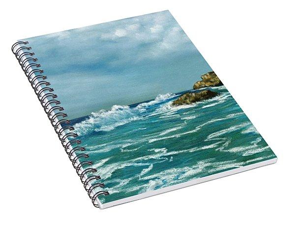 Spiral Notebook featuring the painting Caribbean Sea by Anastasiya Malakhova