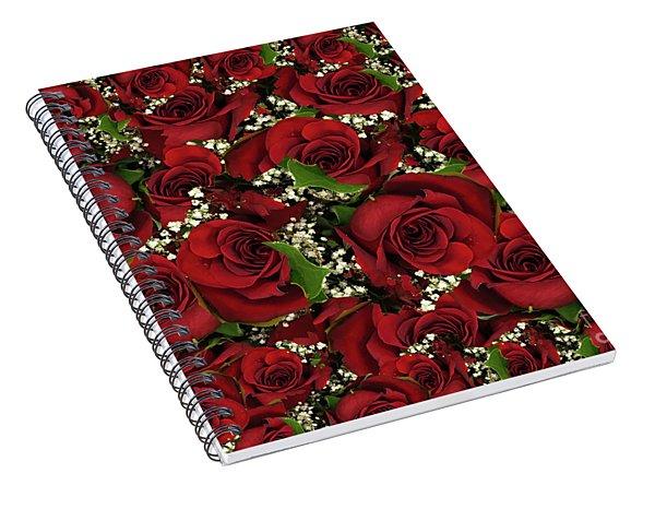 Carmine Roses Spiral Notebook