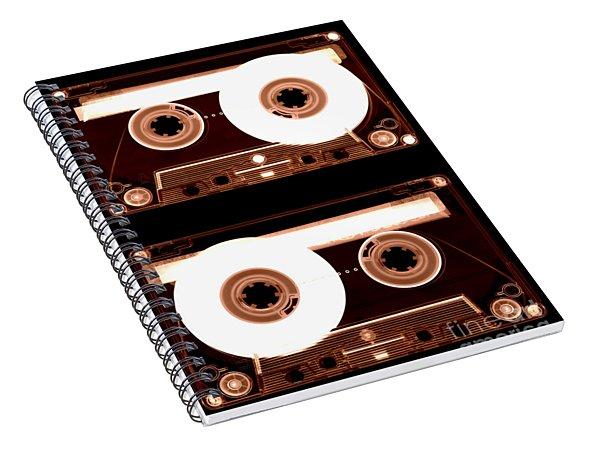Cassette Tapes Spiral Notebook