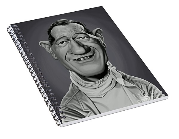 Celebrity Sunday - John Wayne Spiral Notebook