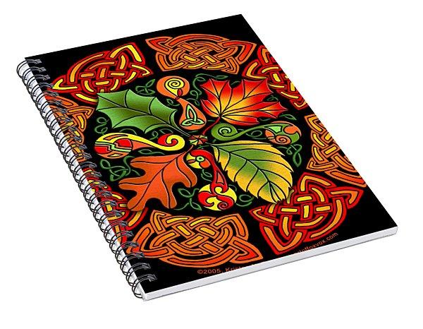 Celtic Autumn Leaves Spiral Notebook