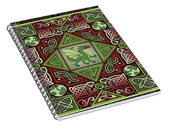 Celtic Dragon Labyrinth Spiral Notebook