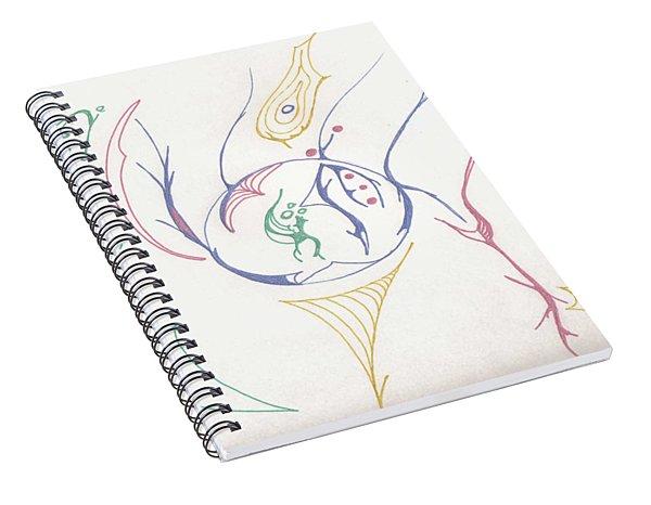 Center Orb Spiral Notebook
