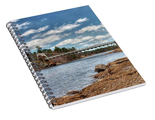 Chain Bridge On The Merrimack Spiral Notebook