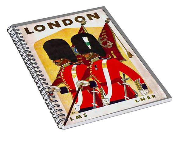 Changing The Guard London - 1937 Spiral Notebook