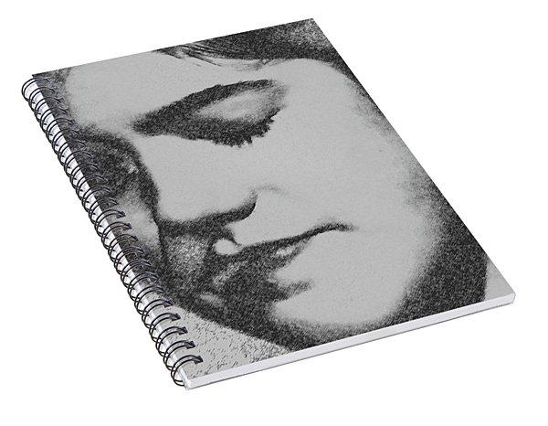 Charcoal Portrait Spiral Notebook