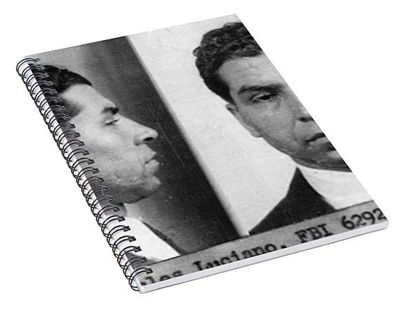 Charles Lucky Luciano Mug Shot 1931 Horizontal Spiral Notebook